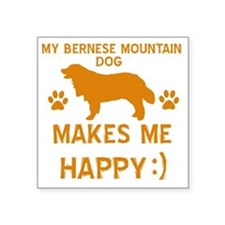 "Bernese Mountain Dog Square Sticker 3"" x 3"""