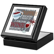 I Drink Coffee Wine Keepsake Box