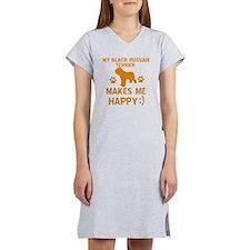 Black Russian Terrier dog desig Women's Nightshirt