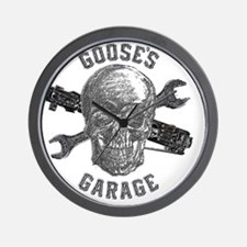 Gooses Garage New Skull Design for Dark Wall Clock