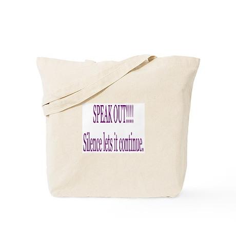 """Speak Out"" Tote Bag"