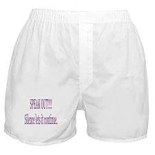 """Speak Out"" Boxer Shorts"