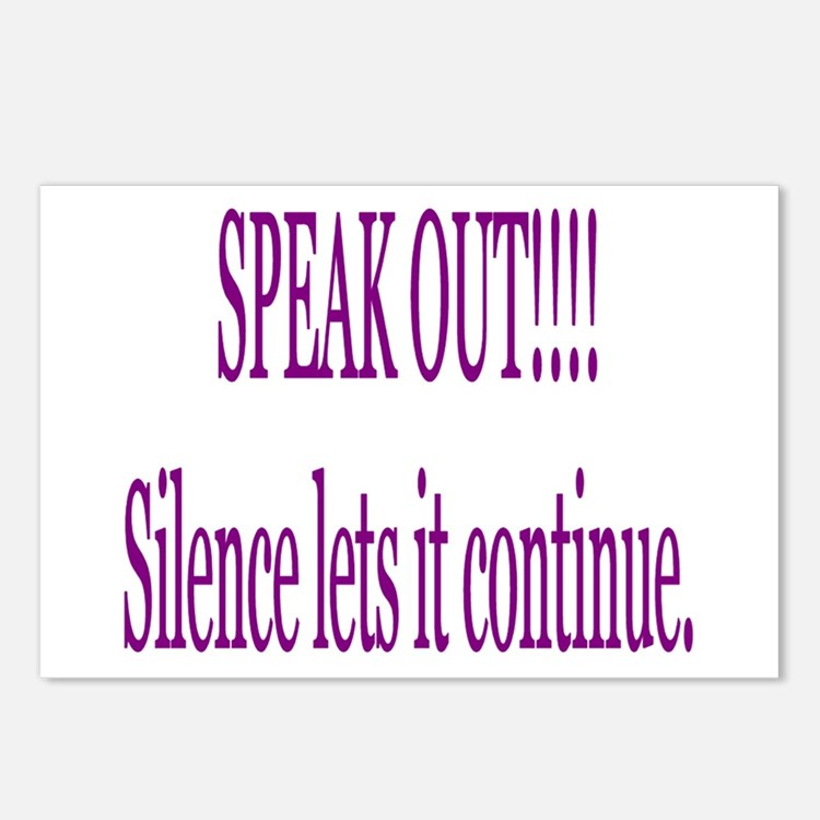"""""""Speak Out"""" Postcards (Package of 8)"""