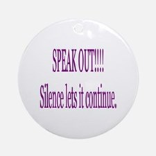 """Speak Out"" Ornament (Round)"