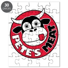 Petes Meat white text Puzzle