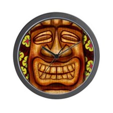 Happy Tiki Print Wall Clock