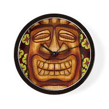 Happy Tiki Print Wall Clock
