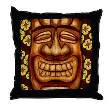 Happy Tiki Print Throw Pillow