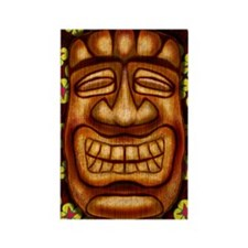 Happy Tiki Print Rectangle Magnet