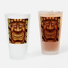 Happy Tiki Print Drinking Glass