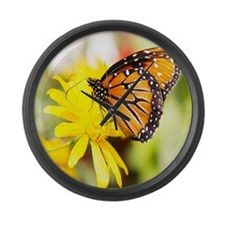 butterfly sc Large Wall Clock