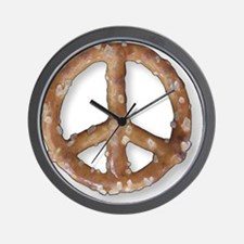 Peace Pretzel Wall Clock