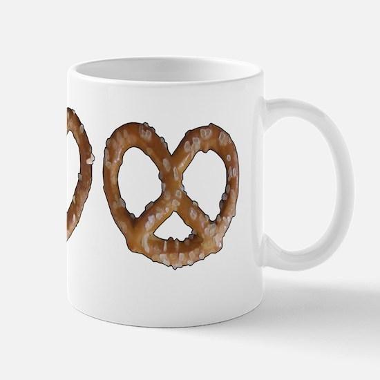 Peace Love Pretzel Mug