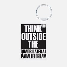 Think Outside The Quadrila Keychains