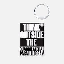 Think Outside The Quadrila Keychains
