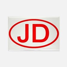 JD Oval (Red) Rectangle Magnet