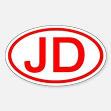 JD Oval (Red) Oval Decal