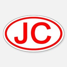 JC Oval (Red) Oval Decal
