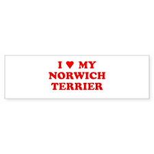NORWICH TERRIER SHIRT NORWICH Bumper Bumper Sticker