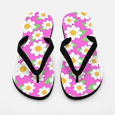 Cute Daisy Pattern 5x7 Flip Flops