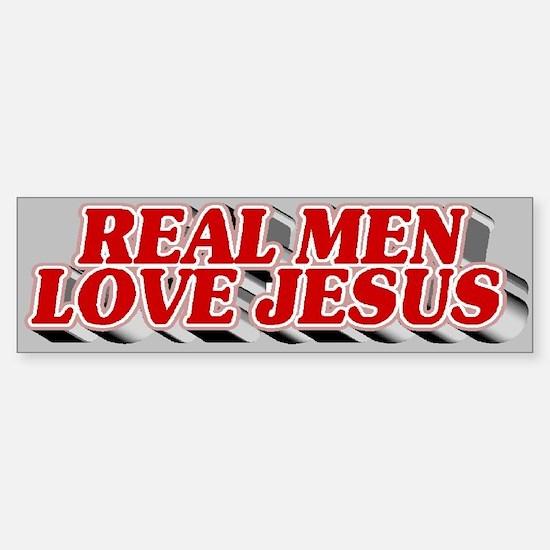 Real Men Love Jesus Bumper Bumper Bumper Sticker