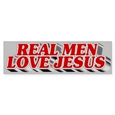 Real Men Love Jesus Bumper Bumper Stickers