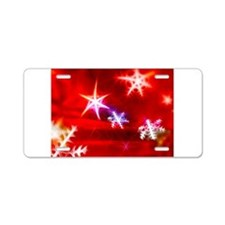 Red Christmas 4 Aluminum License Plate
