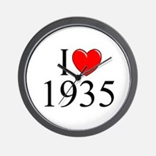 """I Love 1935"" Wall Clock"
