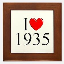 """""""I Love 1935"""" Framed Tile"""