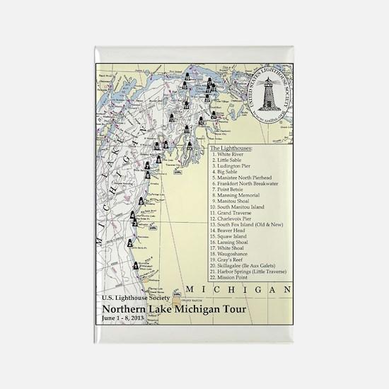 Northern Lake Michigan Tour Rectangle Magnet