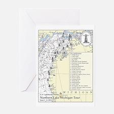 Northern Lake Michigan Tour Greeting Card