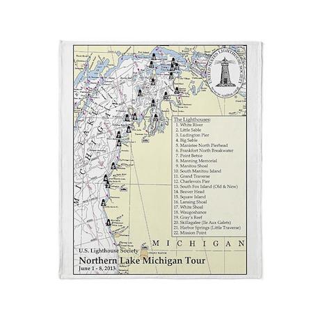 Northern Lake Michigan Tour Throw Blanket