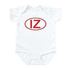 IZ Oval (Red) Infant Bodysuit