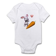 Baby Easter Bunny with Carrot Infant Bodysuit
