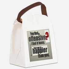 Offensive? Canvas Lunch Bag