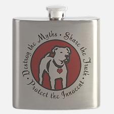 Response-a-Bull Rescue Logo Flask