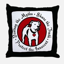 Response-a-Bull Rescue Logo Throw Pillow