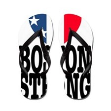 Boston Strong USA Heart Flip Flops