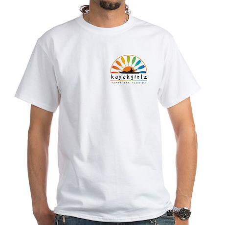 Kayakgirlz logo / paddle sun White T-Shirt