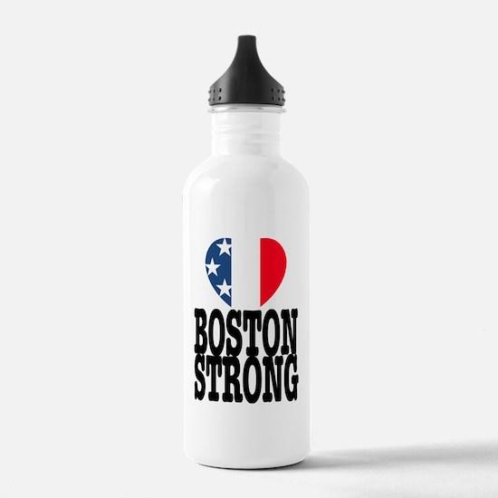 Boston Strong USA Hear Water Bottle