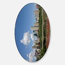 Edmonton Skyline and Bridge on a Su Sticker (Oval)