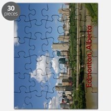 Edmonton Skyline and Bridge on a Sunny Day Puzzle