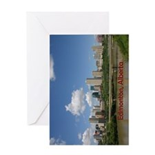 Edmonton Skyline and Bridge on a Sun Greeting Card