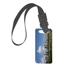 Edmonton Skyline and Bridge on a Luggage Tag