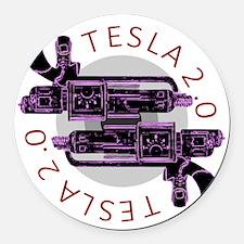 Tesla 2.0 Round Car Magnet