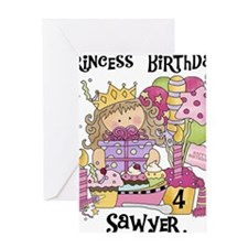 Custom Sawyer Birthday Greeting Card