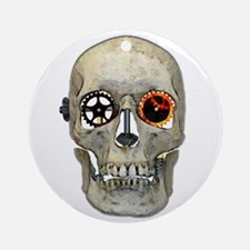 Gear Head Round Ornament