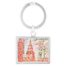 1959 Laos That Ing Hang Stupa P Landscape Keychain