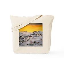 Amish Horse and Buggy Landscape Folk Art  Tote Bag