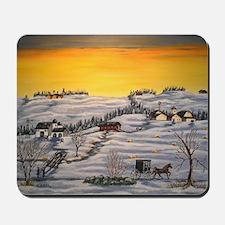Amish Horse and Buggy Landscape Folk Art Mousepad